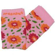 Huggalugs Leg Warmers newborn toddler preschool sock cold weather flowers floral fleur pink