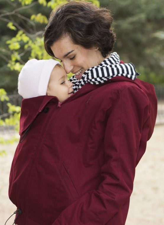 momawo 4-in-1 babywearing coat maternity light waterproof warm winter autumn spring insert front back carry sling library sling rental hire jacket