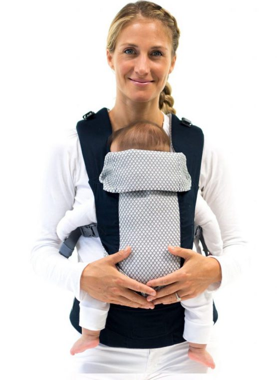 beco gemini front carry back hip forward facing newborn insert black ergonomic cool version hot weather mesh