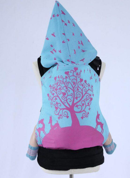 Kokadi erna im wunderland in wonderland blue pink kokadi wearababy medium wompat corduroy woven wrap conversion