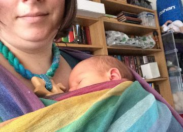 woven wrap newborn em emily taylor girasol rainbow 4th trimester fourth