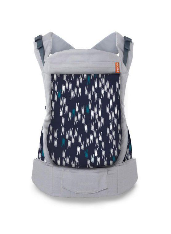 grey paint brushstrokes beco toddler carrier sling carrier baby