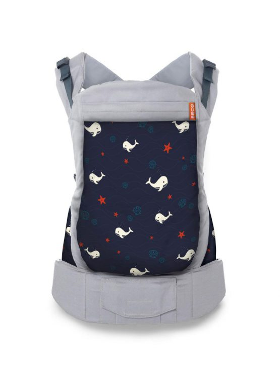 grey marine whales beco toddler carrier sling carrier baby