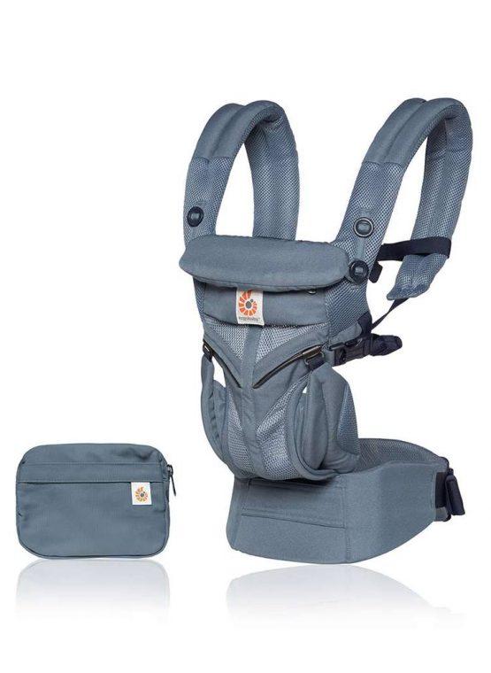 Ergobaby OMNI 360 cool air mesh ergo oxford blue forward facing adjustable infant insert