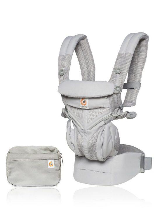 Ergobaby OMNI 360 cool air mesh ergo carbon grey forward facing adjustable infant insert