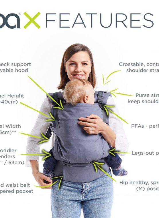 boba x bobax preschool birth newborn adjustable adaptable features