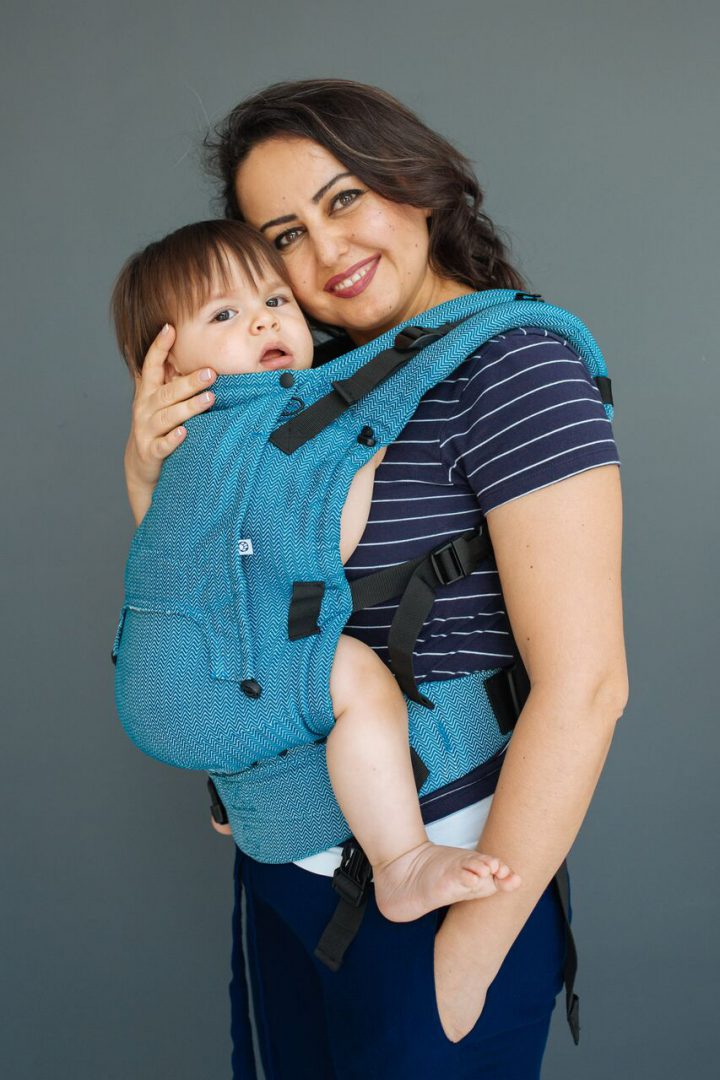 neko rainbow unique sunset carrier sling buckle newborn adjustable adaptable sling hire sling library sling rent rental try before you buy basic ocean rise neko switch baby carrier front sling woven wrap conversion