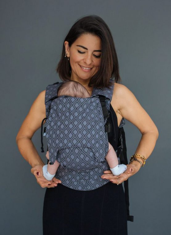 neko rainbow unique sunset carrier sling buckle newborn adjustable adaptable sling hire sling library sling rent rental try before you buy lycia onyx neko switch baby carrier front sling woven wrap conversion