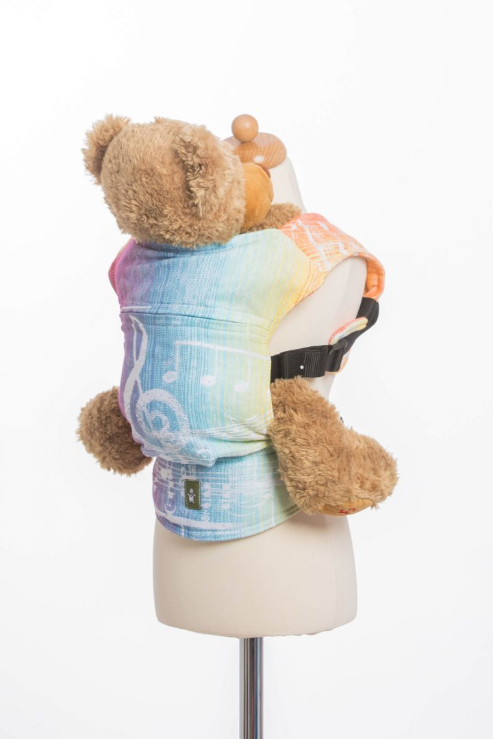 sling hire sling library sling rent rental try before you buy lenny lamb heavenly lace rainbow light white children child waist bag babywearing doll carrier sling buckle symphony light