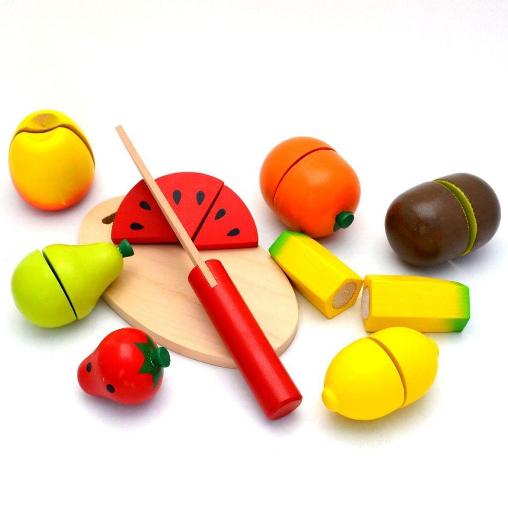 viga wooden toy fruit cutting developmental toy calm family