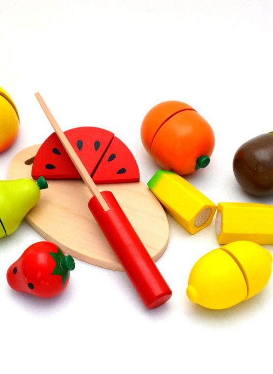 viga wooden toy fruit cutting developmental toy calm family