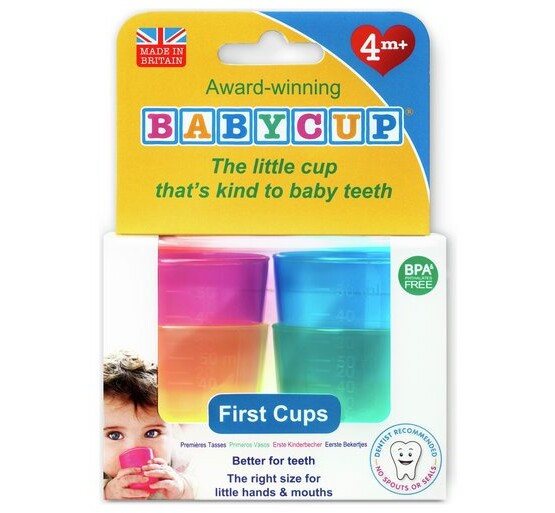 multicoloured babycup award-winning the little cup th the right size for little hands and mouths that's kind to baby teeth first cups measuring