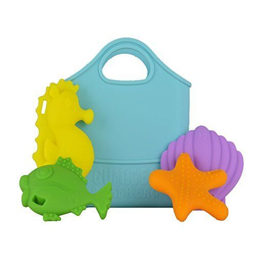 gummigem gumigem bath bag bathbag fish seahorse starfish bathtime toy teething play fun baby newborn
