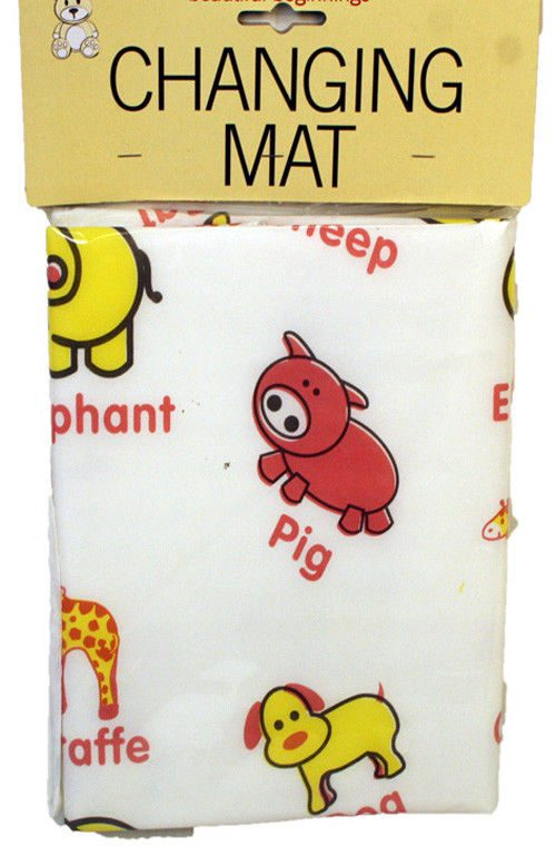 beautiful beginning changing mat foldable portable wipe clean light weight lightweight easy animal cheep elehant yellow red unise cute pattern baby nappy bottom