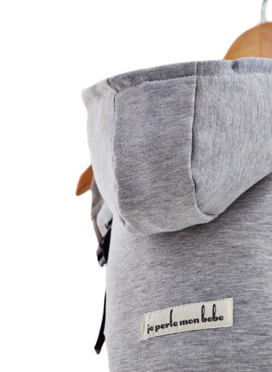 jpmbb hoodiecarrier flannel grey buckle carrier
