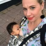 breastfeeding in a sling